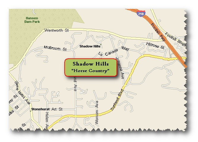 Local map of Shadow Hills